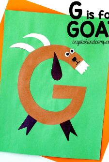 G is for Goat Letter of the Week Craft