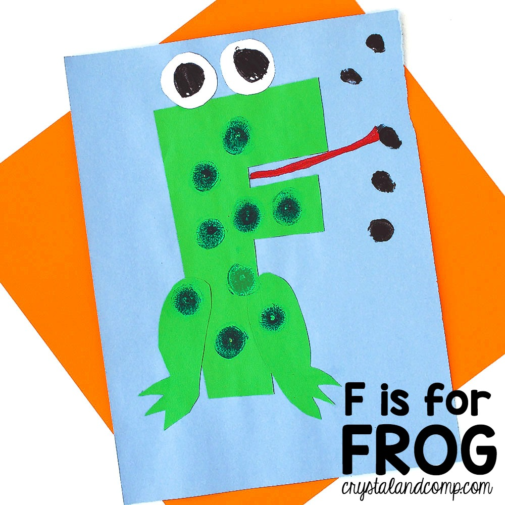letter f craft template  Letter of the Week: F is for Frog