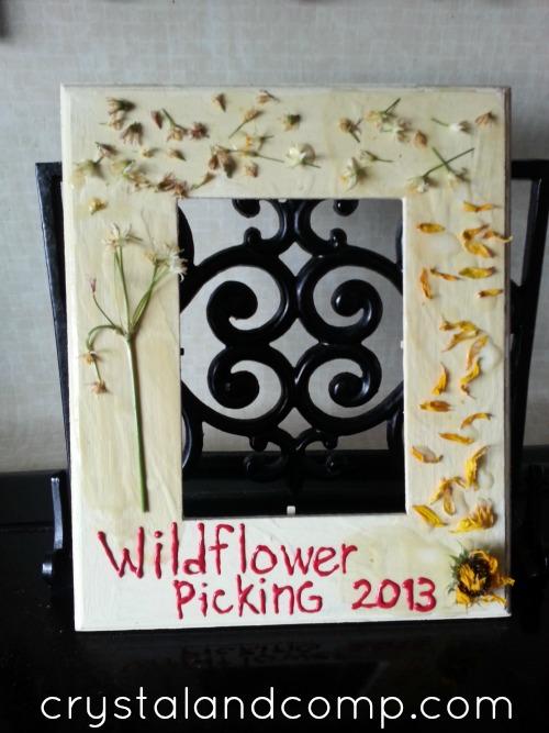 summer activities for kids- make a wildflower frame