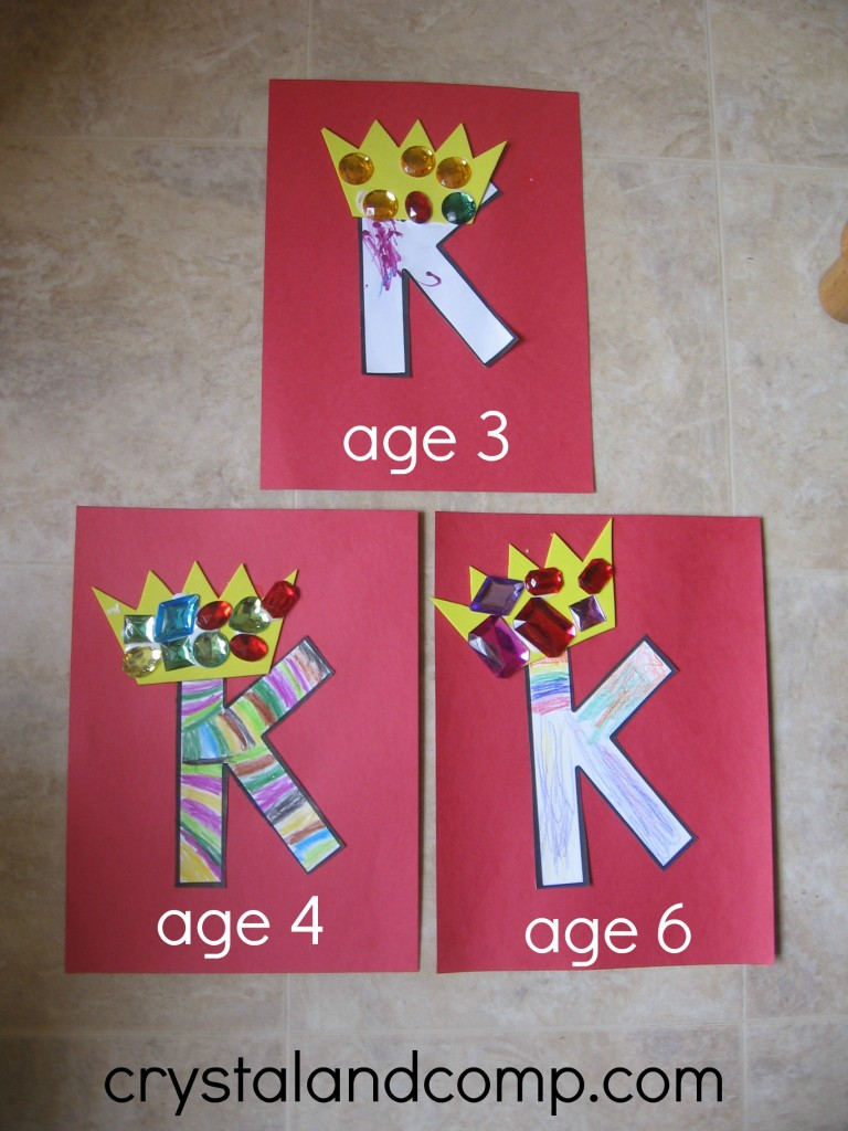 K is for King letter of the week