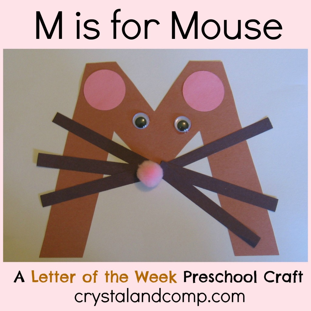 Alphabet Activities for Preschoolers: M is for Mouse