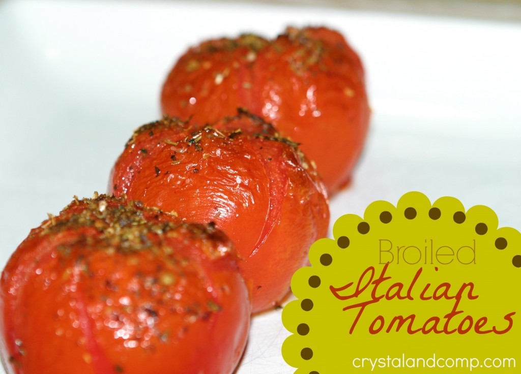 real easy recipes broiled italian tomatoes