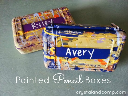 back to school activities craft diy painted pencil box