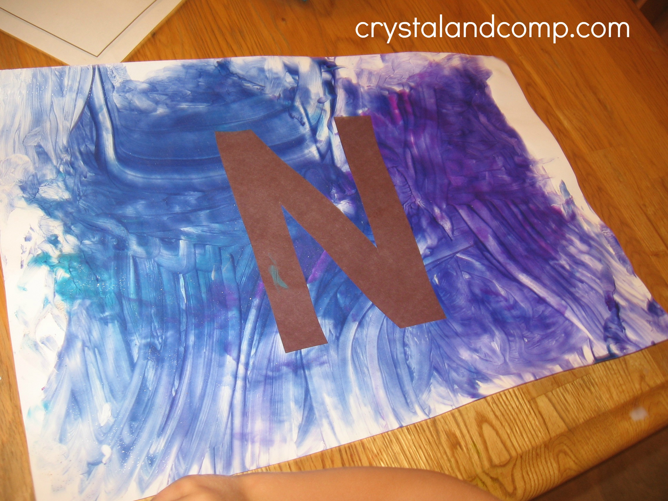 Alphabet activities for preschoolers letter of the week n for Art n craft for toddlers