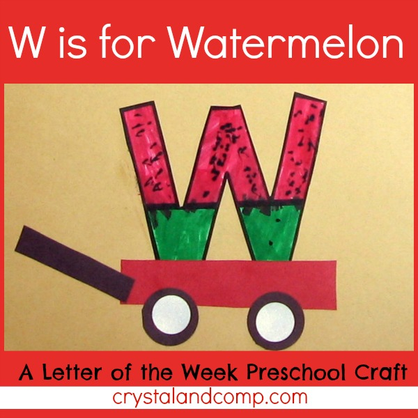 W Is For Watermelon A Letter Of The Week Preschool Craft on Letter M Crafts