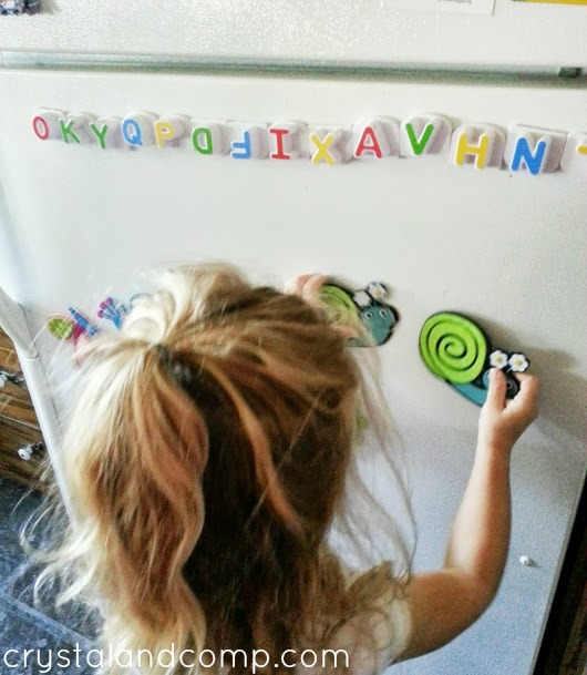 easy diy magnets, great for toddler play