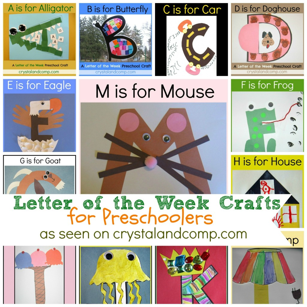 Worksheet Alphabet Letters For Kindergarten letter of the week crafts for preschoolers crystalandcomp