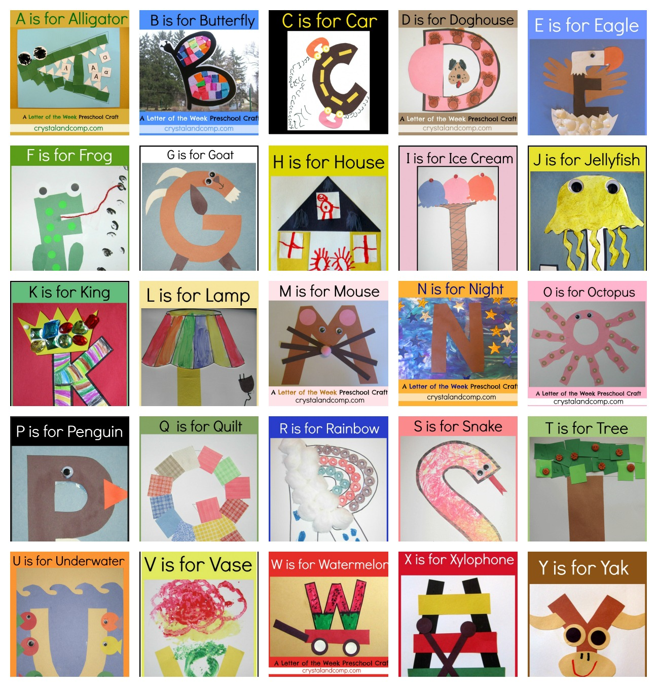 Worksheet Alphabet Letters For Kindergarten letter of the week crafts