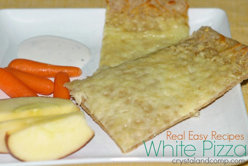 real easy recipe white pizza