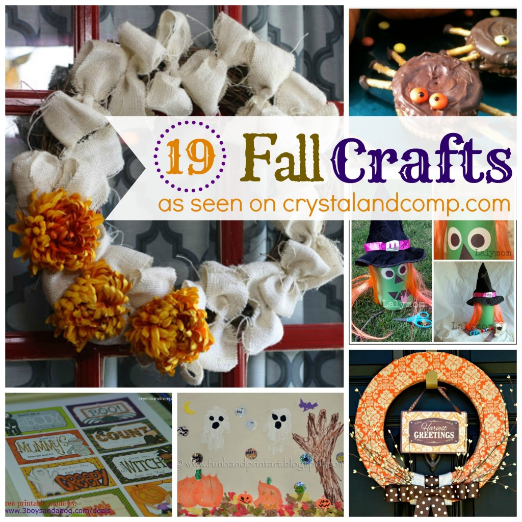 19 fall crafts from #crystalandcomp #fallcrafts