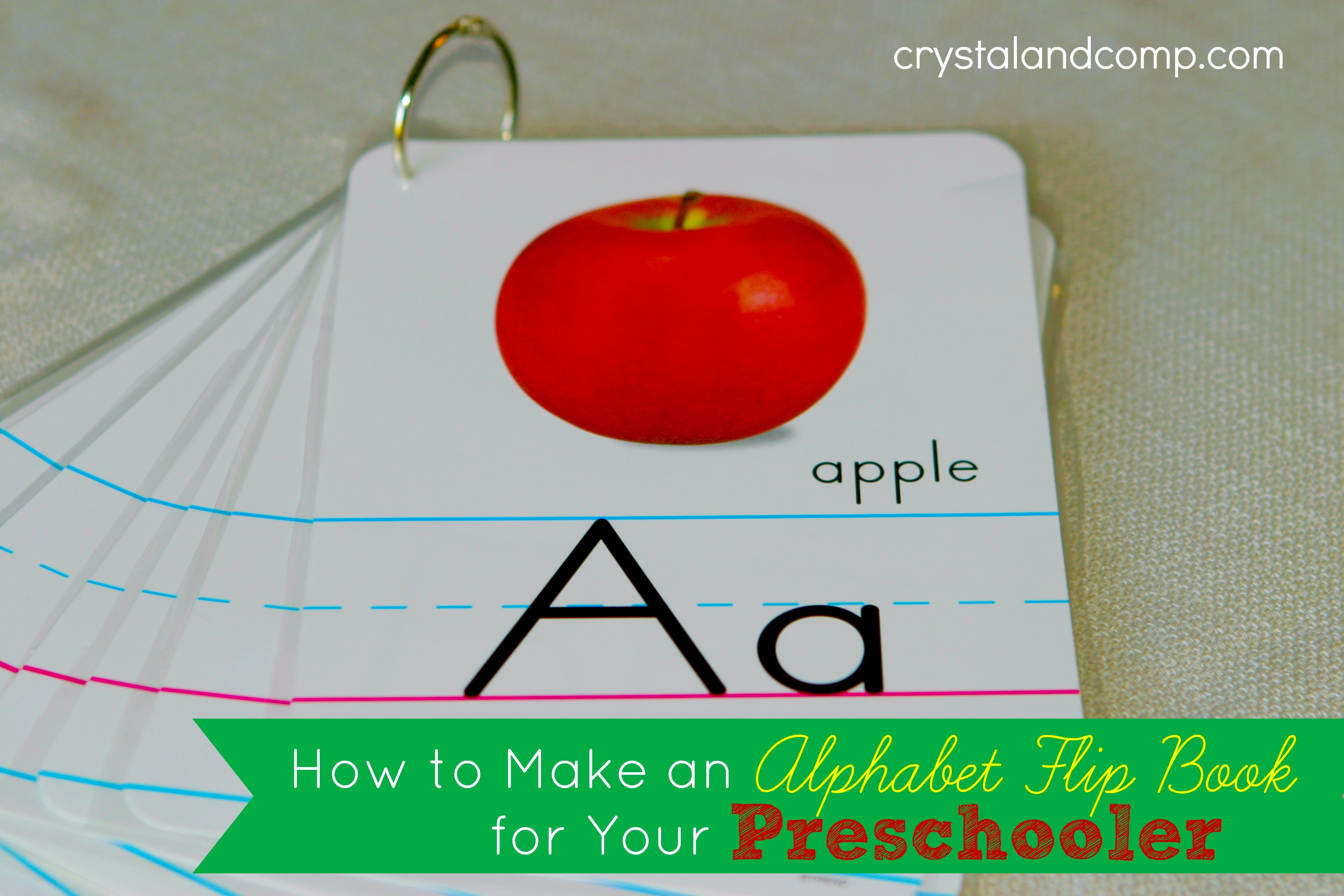 photograph about Printable Flip Book called Practice Your Preschooler Their ABCs