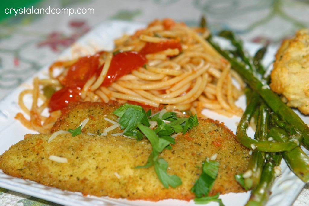 spaghetti and tilapia 30 mimute meal