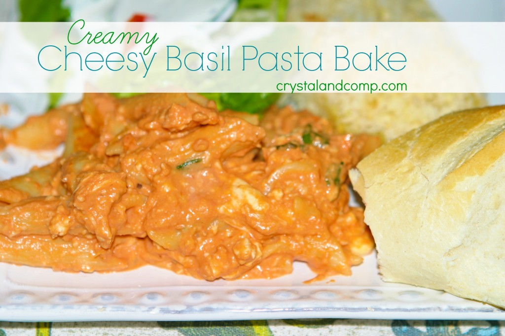 ultimate cheesy basil pasta bake