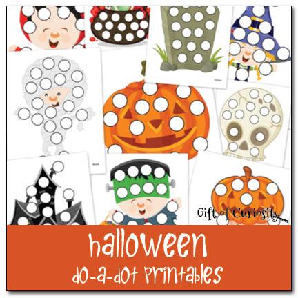 Free Preschool Printable Worksheets: Halloween Do A Dot Printables