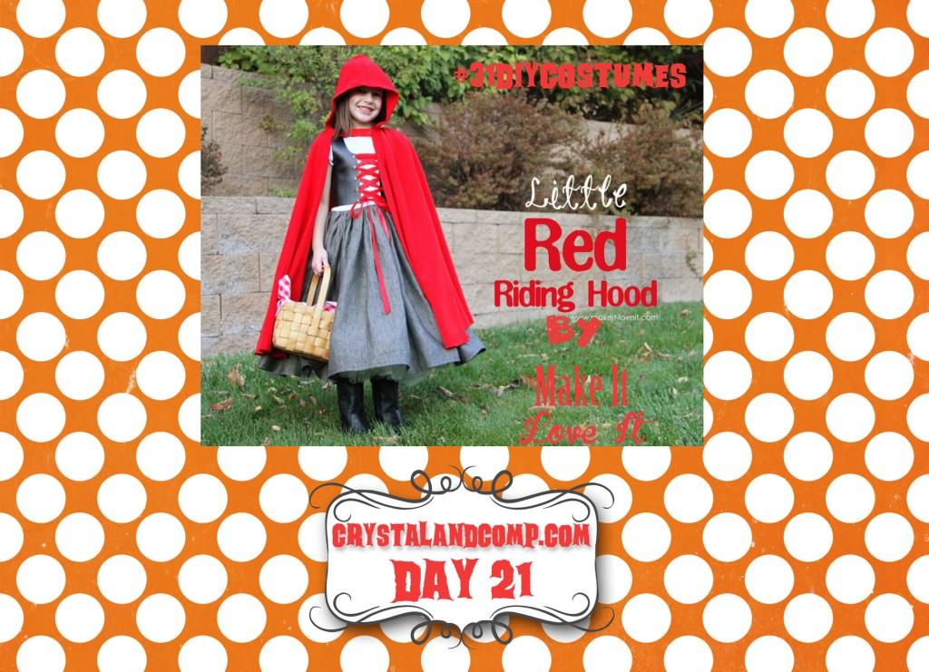 DIY Halloween Costumes:  Little Red Riding Hood