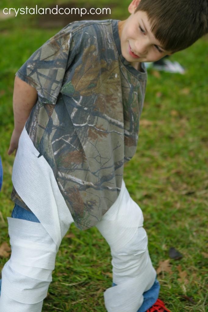 first grader mummy relay