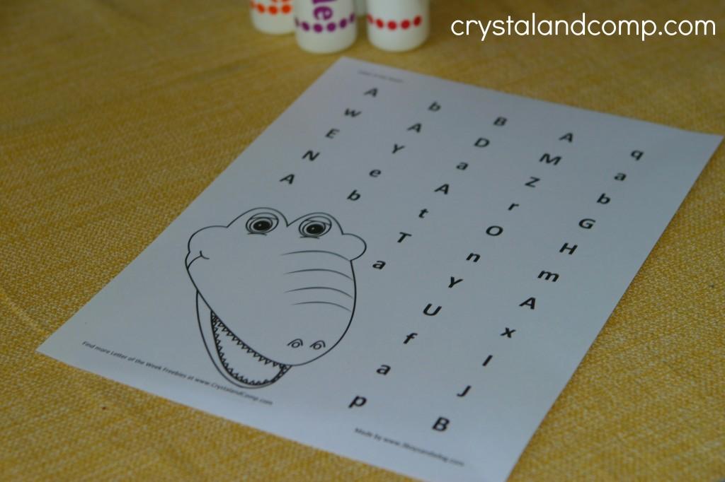 preschool letter worksheets do a dot printable (letter Aa)