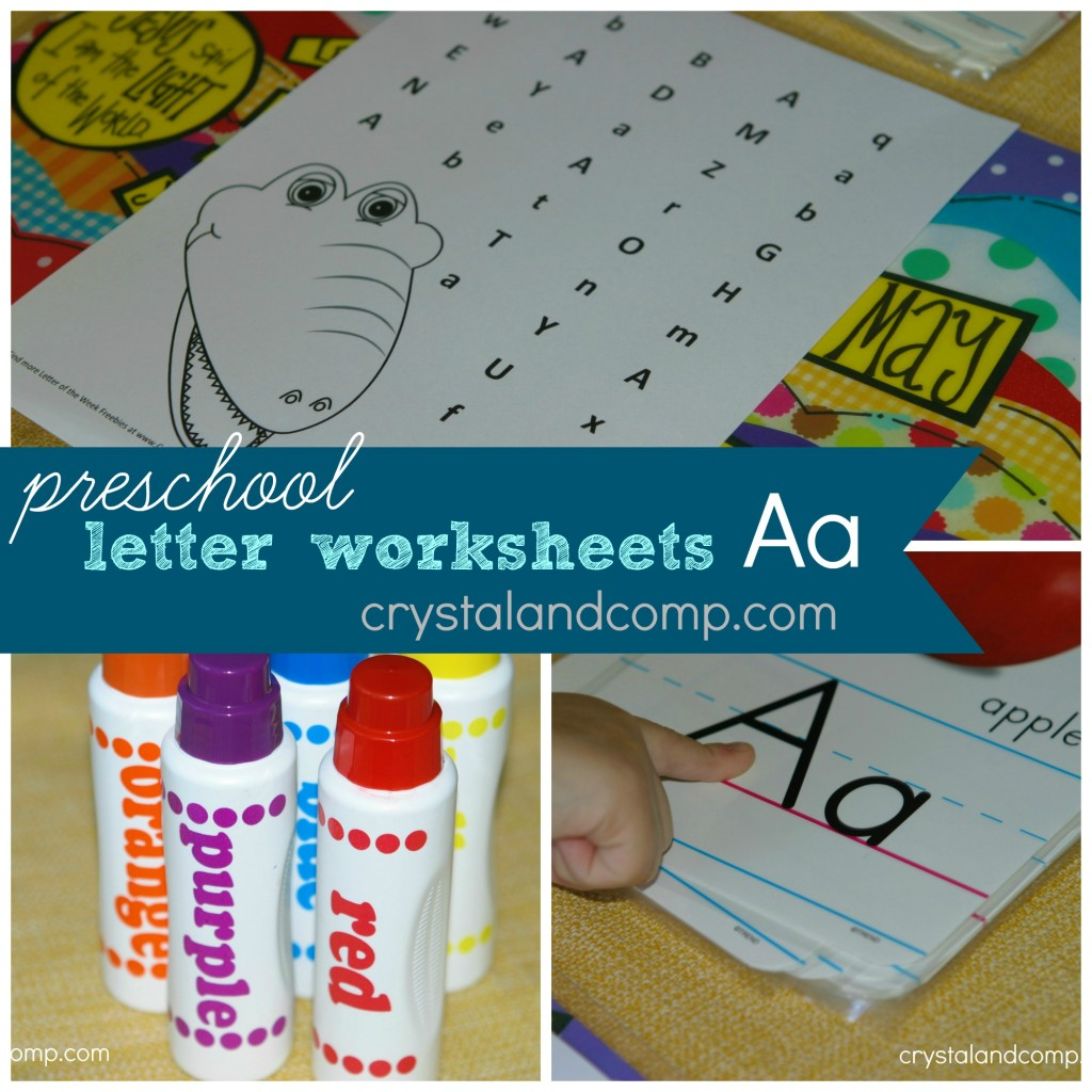 preschool alphabet activities, letter a worksheet