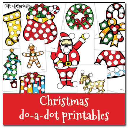 Christmas Preschool Do a Dot Printable