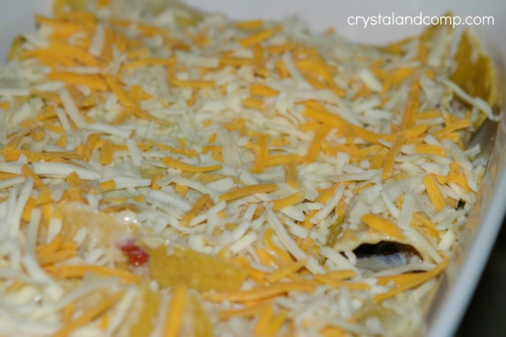 add shredded cheese