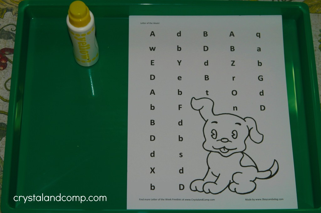 d is for dog preschool letter worksheets