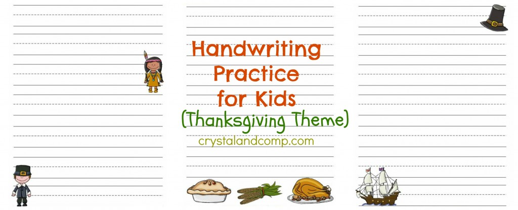 handwriting practice for kids (thanksgiving theme)