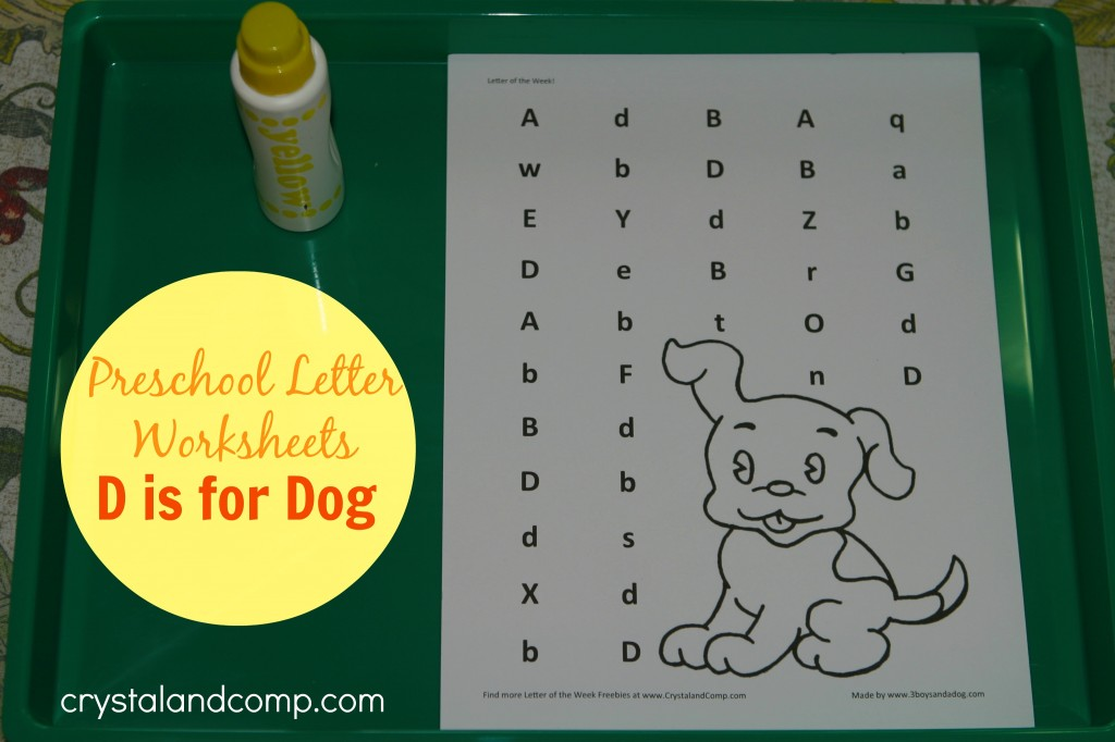 preschool letter worksheets d is for dog printable