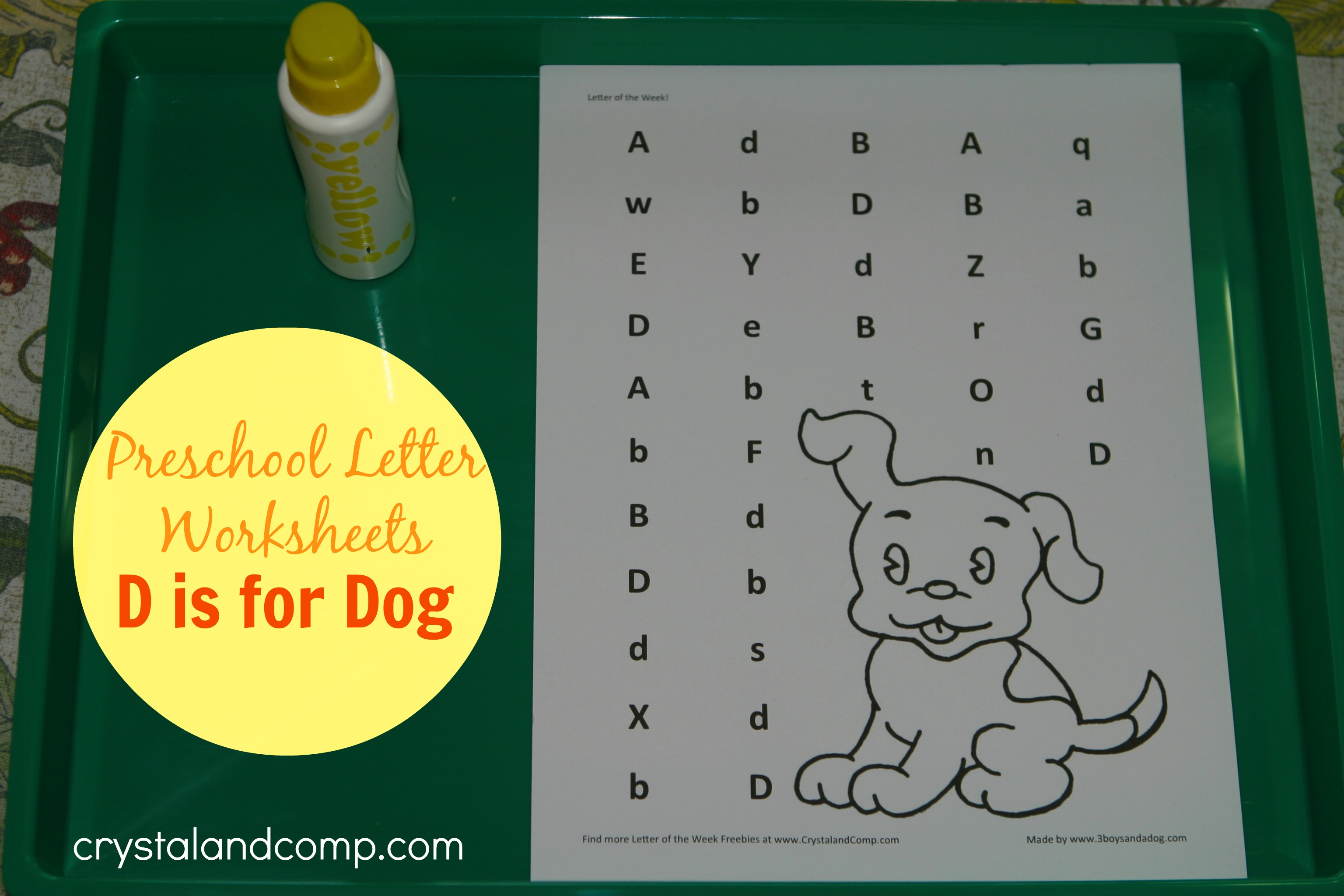 Preschool Letter Worksheets Letter D