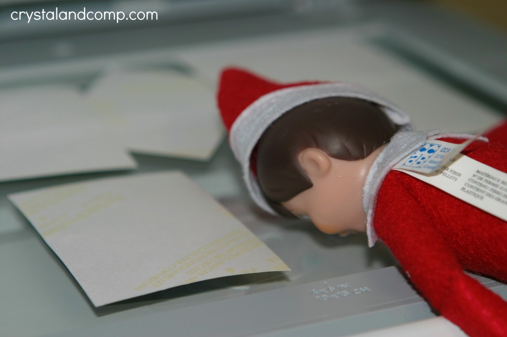 Elf on the Shelf makes photo copies