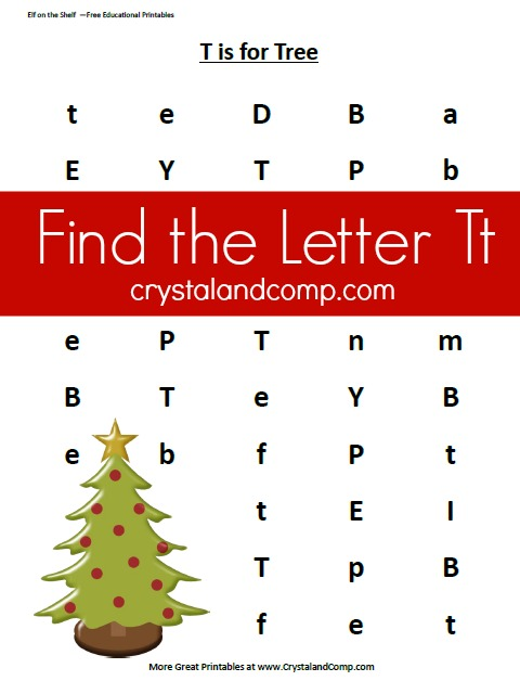 do a dot christmas printables find the letter t