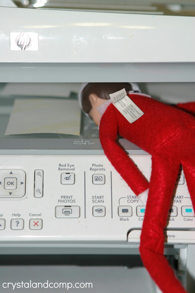 elf on the shelf ideas copy machine