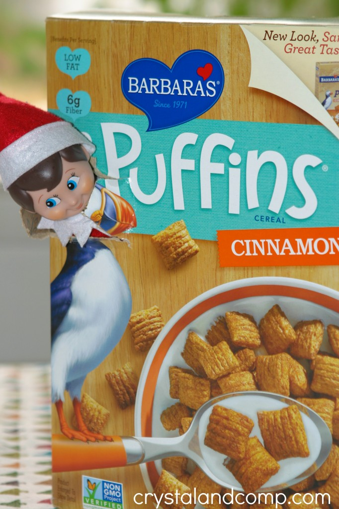 elf on the shelf ideas using cereal box