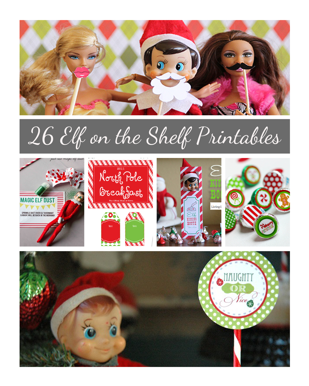 photo about Elf on the Shelf Printable Props titled Elf upon the Shelf Printables