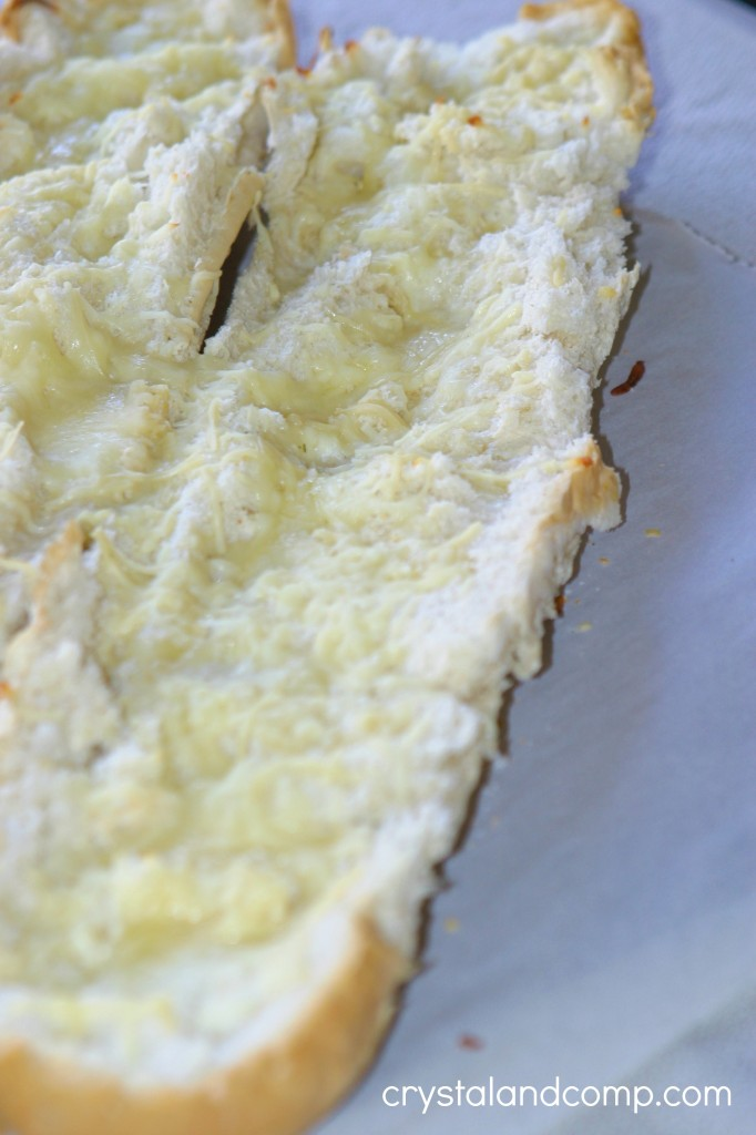 homemade garlic cheese bread
