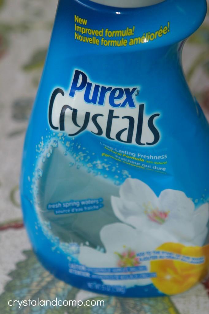 homemade laundry detergent powder with purex crystals