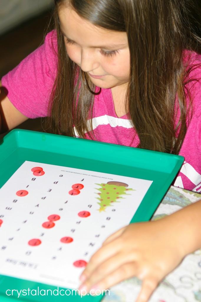 letter worksheets for older kids