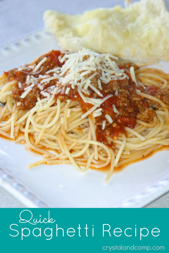 quick spaghetti recipe