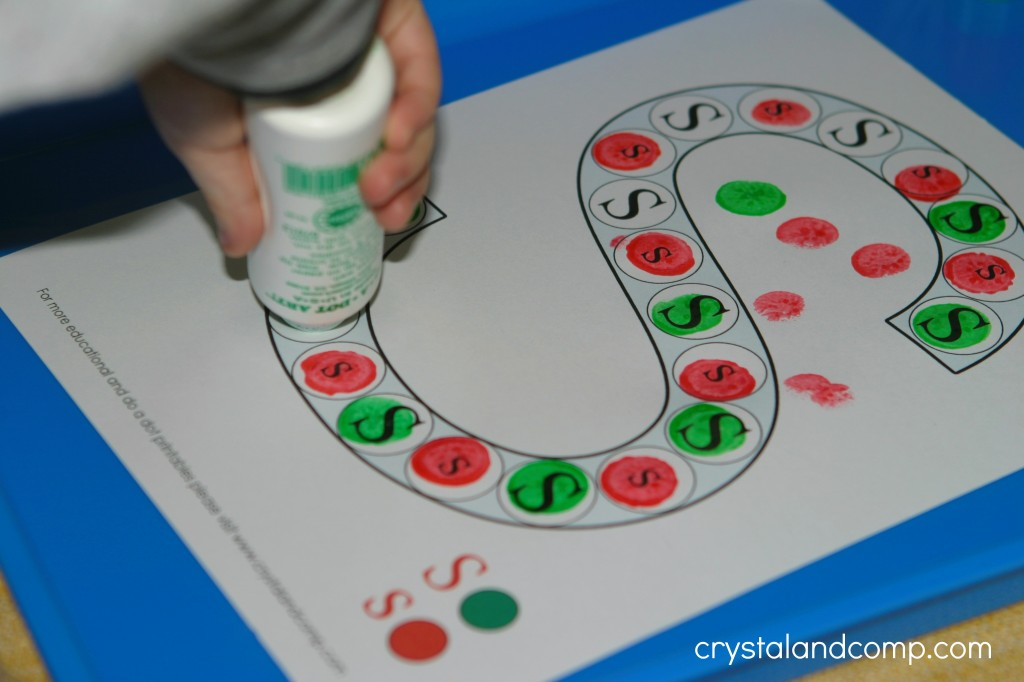 do a dot printable letter s