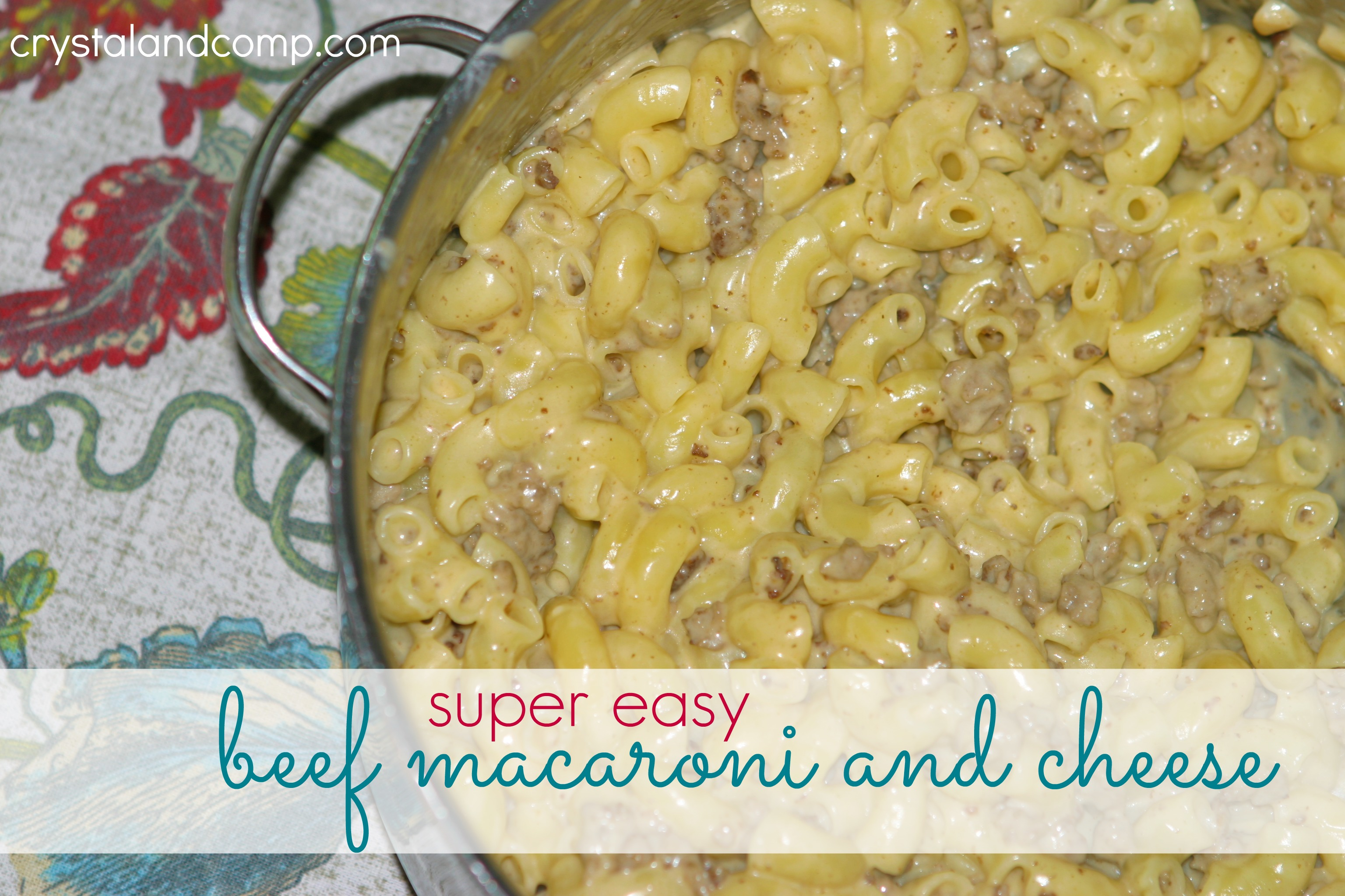 macaroni and beef with cheese