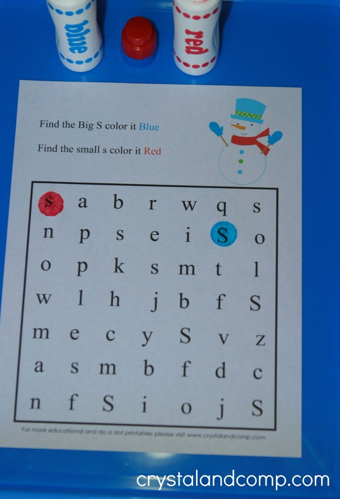 find the letter s (preschool do a dot printable)