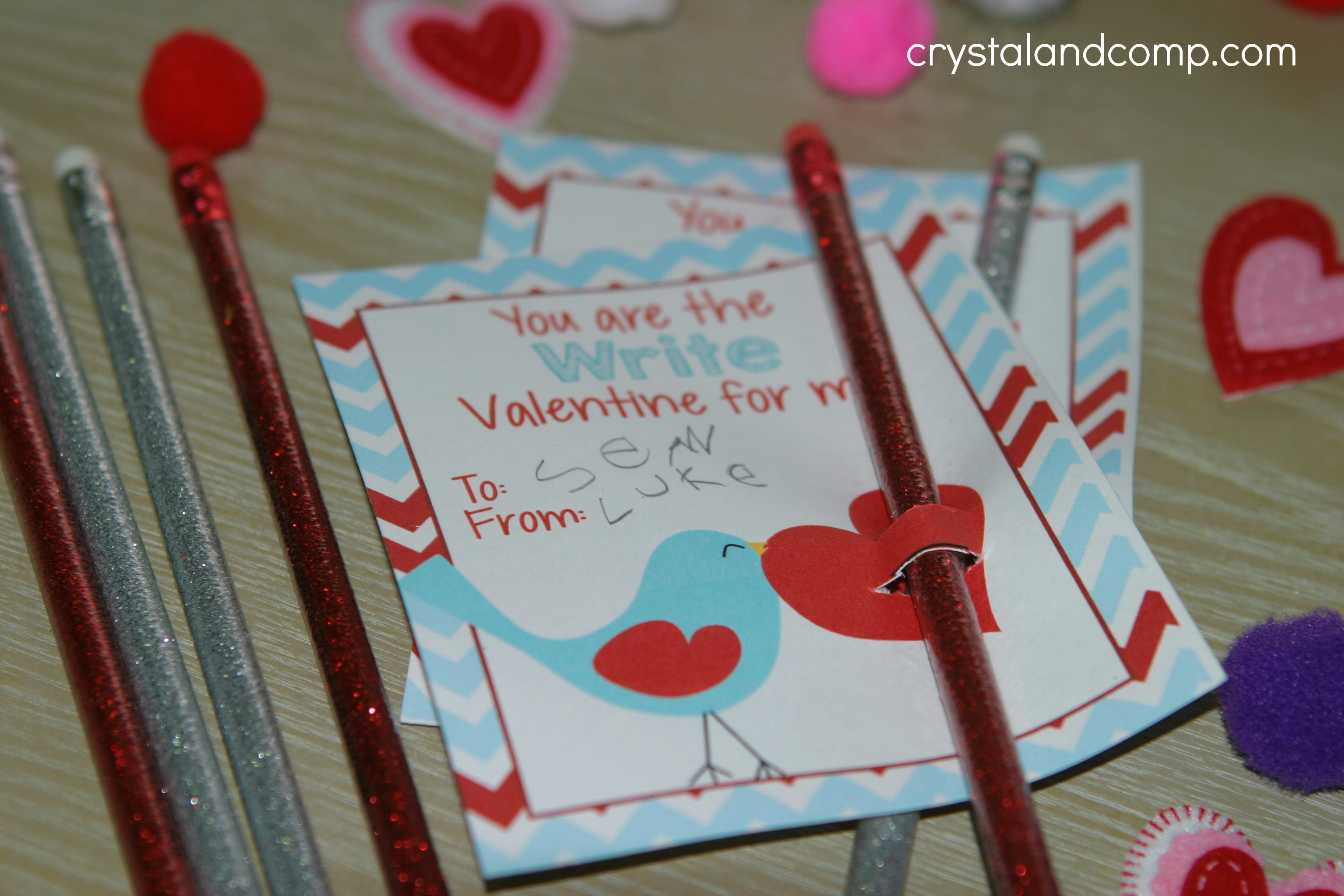 photo about Pencil Valentine Printable referred to as Valentine Pencil Holder