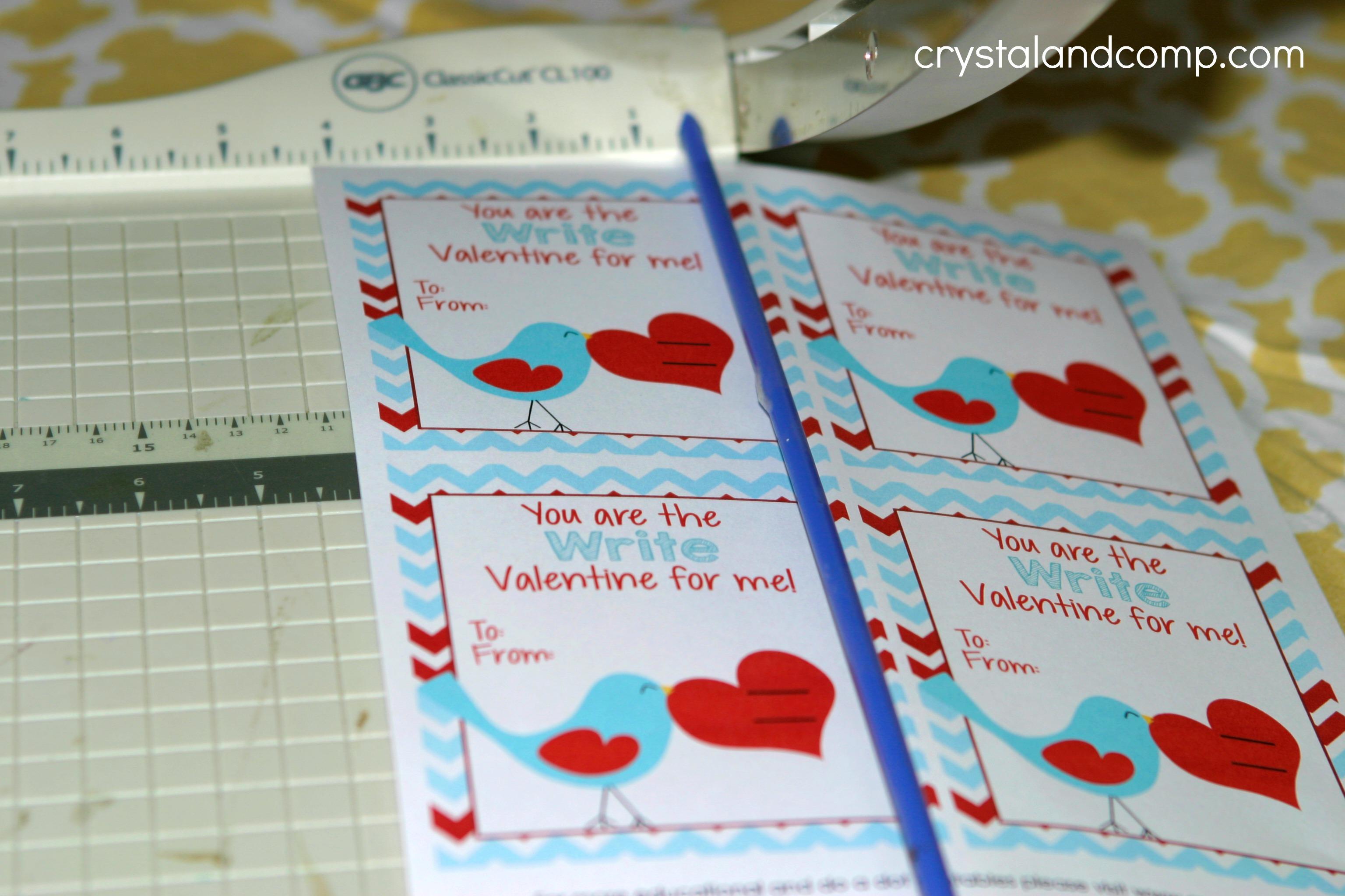 Valentine Pencil Holder – Write a Valentines Card