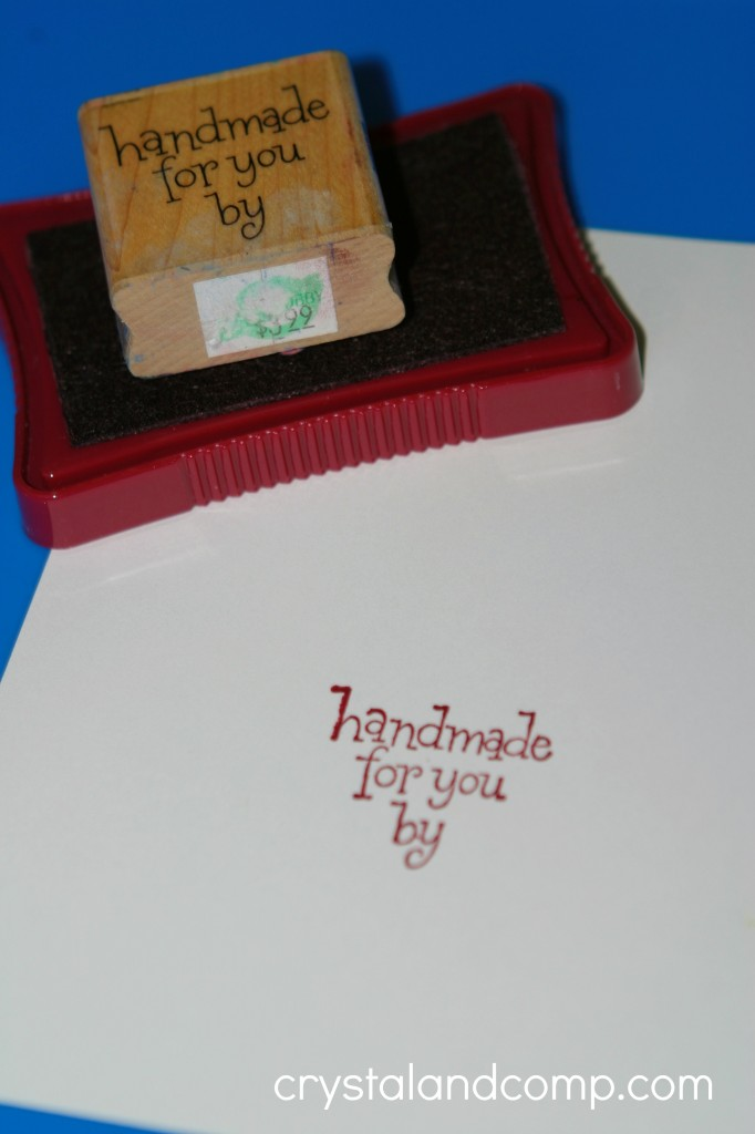 handmade for you by stamp