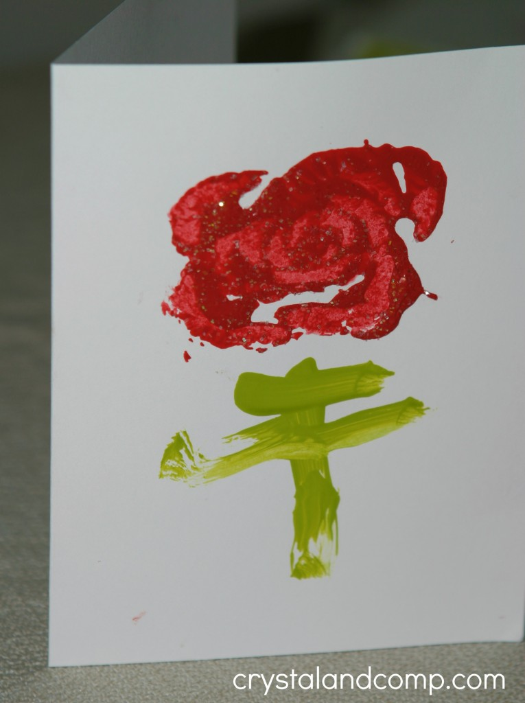 homemade valentine cards kids can make using celery and paint
