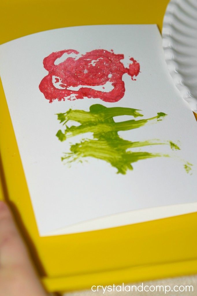 homemade valentine cards using celery as a stamp