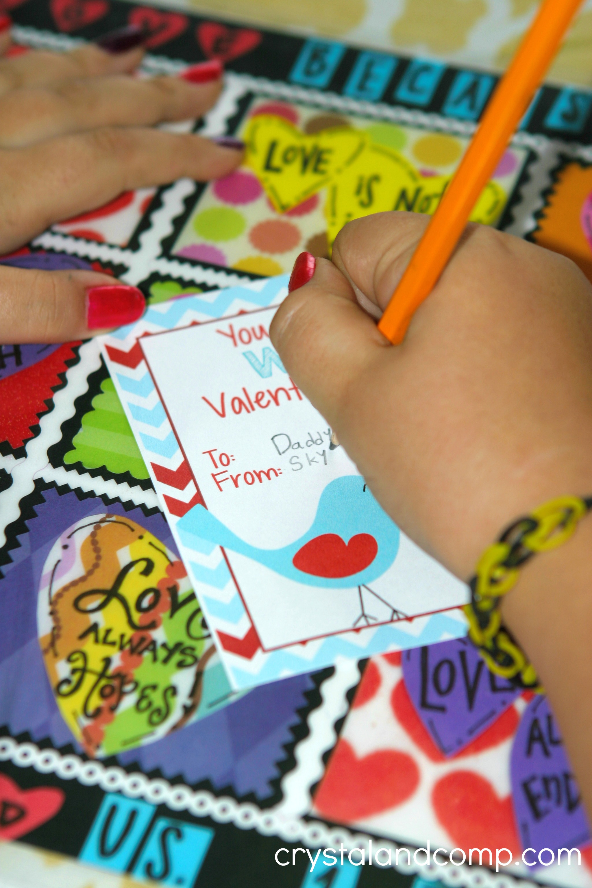 image about Printable Kid Valentine referred to as Valentine Pencil Holder