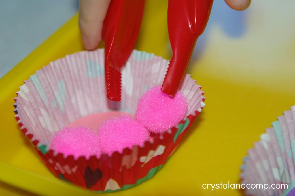 preschool sorting activities using jumbo tweezers