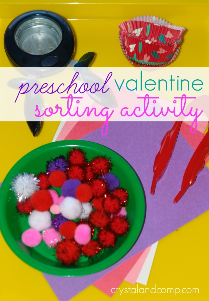 preschool sorting activity