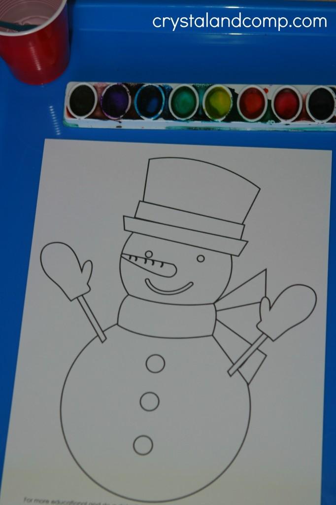 snowman preschool do a dot printables