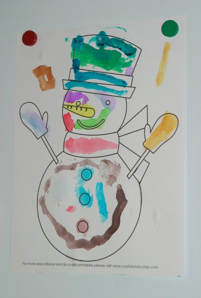 snowman printable color sheet